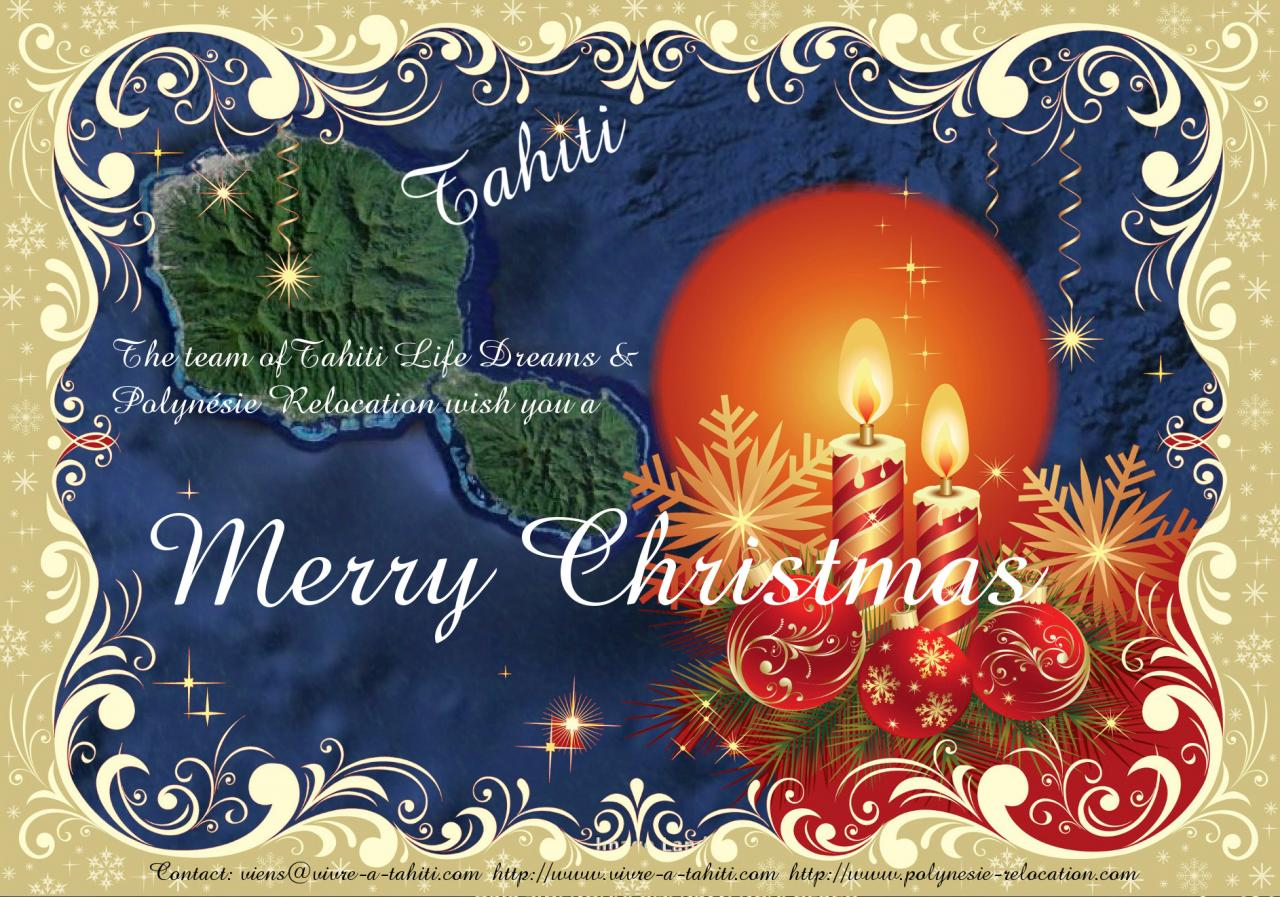 Merry Christmas from Tahiti