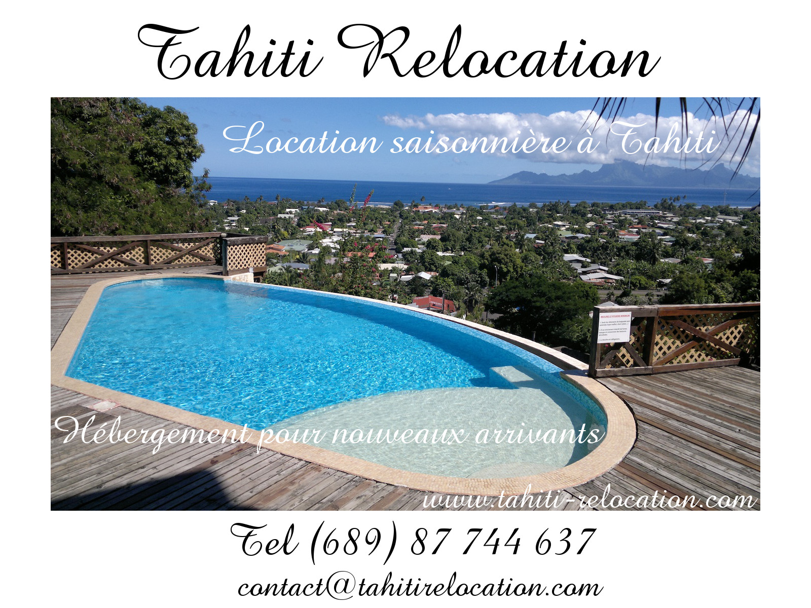 Tahiti Relocation, location appartement Tahiti Punaauia
